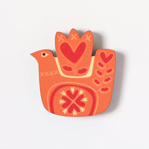 Love Bird Fridge Magnet Orange