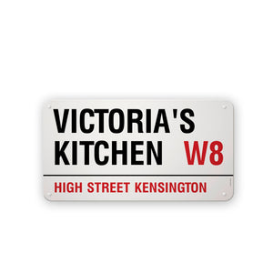 Create Your Own London Street Sign Personalisation Example