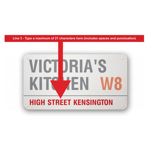 Create Your Own London Street Sign Personalisation Line 3