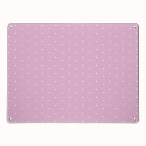 'Polka Dot - Pink' - Large Magnetic Notice Board / Wall Art