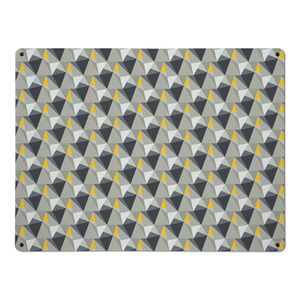 shards concrete and yellow magnetic notice board large