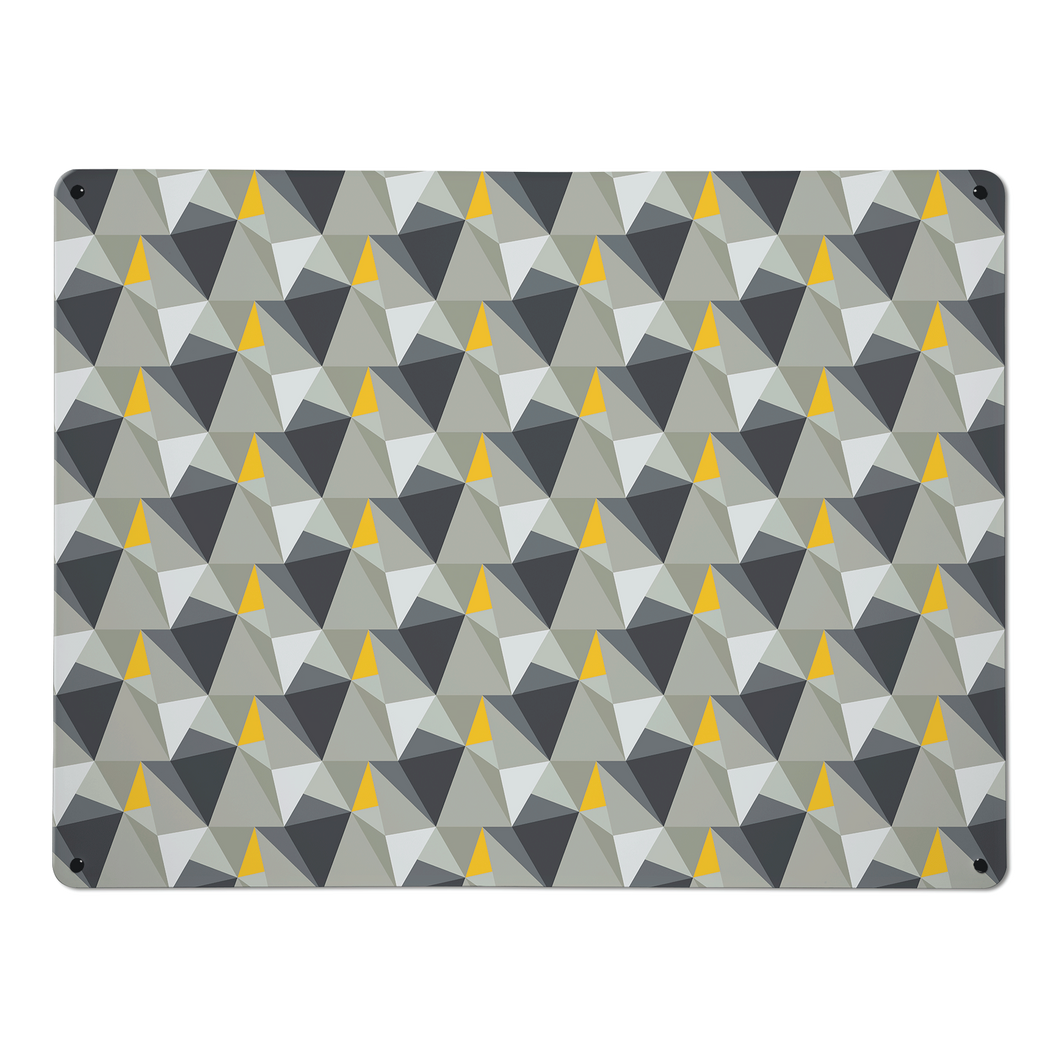 shards concrete and yellow magnetic notice board small