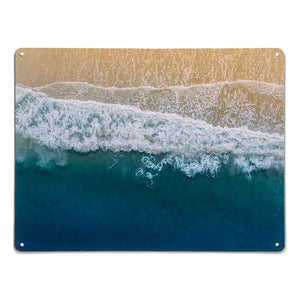 'Waves on the Shore' - Large Magnetic Notice Board / Wall Art
