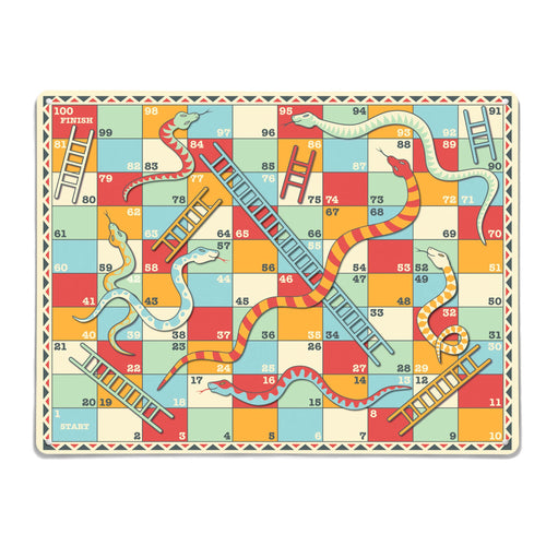 Snakes and Ladders magnetic board and game