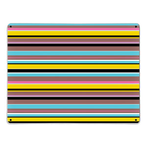 Stripes Liquorice Magnetic Board