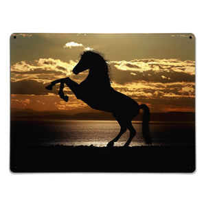 'Sunset Horse' - Large Magnetic Notice Board / Wall Art