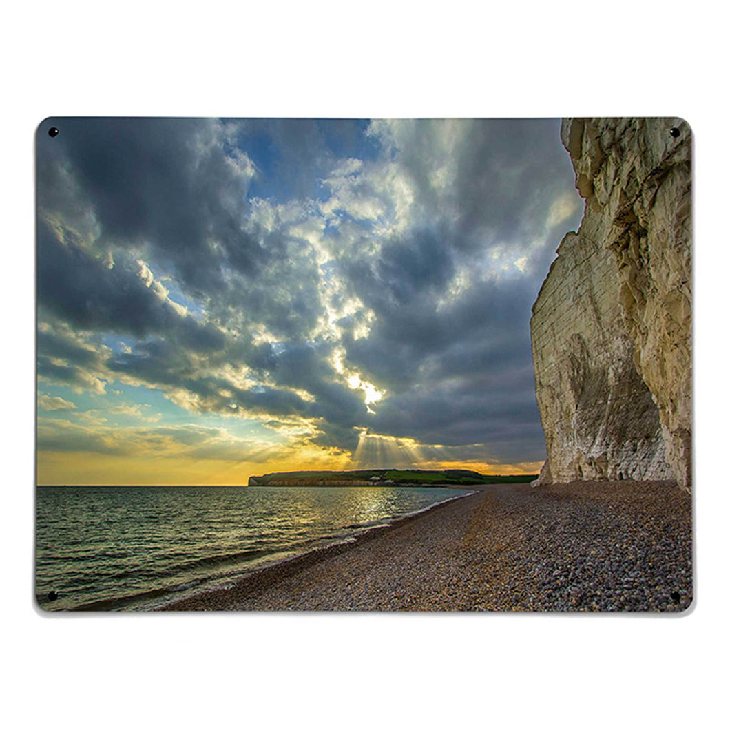 'Sussex Coast Sunset' - Large Magnetic Notice Board / Wall Art