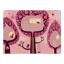 Tree Houses Pink Magnetic Board