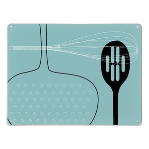 Utensils Blue Magnetic Board