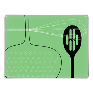 Utensils Green Magnetic Board