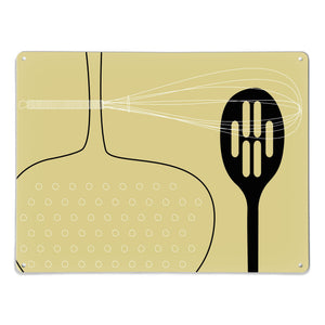 Utensils Light Olive Magnetic Board