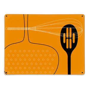 Utensils Orange Magnetic Board