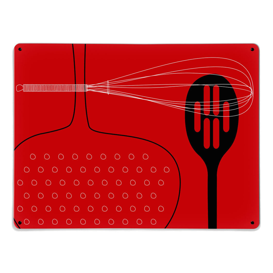 Utensils Red Magnetic Board