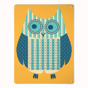 'Wise Owl - Times Tables'  - Large Magnetic Notice Board