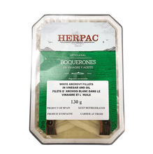 Herpac White Anchovy Fillets in Oil and Vinegar | Seafood Conservas from Spain Shop Online at The Spanish Store | Spanish Imports to Canada