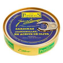 Los Peperetes Small Sardines in Olive Oil |  Spanish Seafood Conservas available for delivery in Canada | Shop Online The Spanish Store
