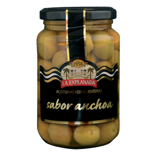 La Explanada Anchovy-Flavoured Whole Green Olives, Manzanilla