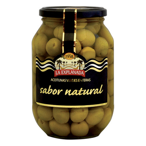 La Explanada Natural-Flavoured Whole Green Olives, Manzanilla | Sabor Natural | Conservas and Tapas buy online The Spanish Store