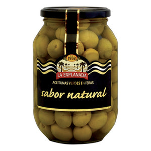 La Explanada Natural-Flavoured Whole Green Olives, Manzanilla