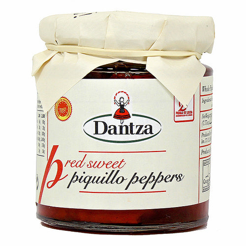 Dantza DO Lodosa Whole Red Piquillo Peppers | Preserved vegetables and conserves for Spanish tapas in Canada
