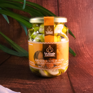 La Abuela Carmen Garlic in Olive Oil with Fine Herbs | The Spanish Store Shop Online for Conservas and Tapas Night Spanish Products