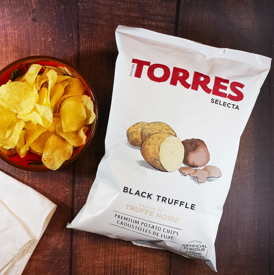 Torres Selecta Black Truffle Premium Potato Chips| Spanish Imports Gourmet Grocery Food Shop Online The Spanish Store | Torres Chips in Toronto Ontario