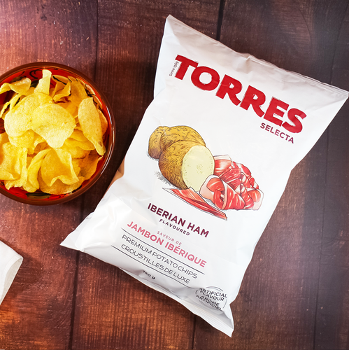 Torres Selecta Iberian Ham Flavoured Premium Potato Chips | Spanish Imports Gourmet Grocery Food Shop Online The Spanish Store