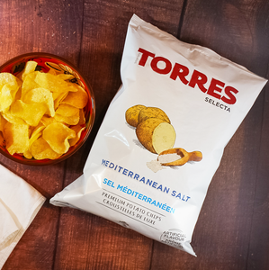Torres Selecta Mediterranean Sea Salt Premium Potato Chips from Spain | Spanish Imports Gourmet Grocery Food Shop Online The Spanish Store | Torres Chips in Toronto, Ontario - Shop Online