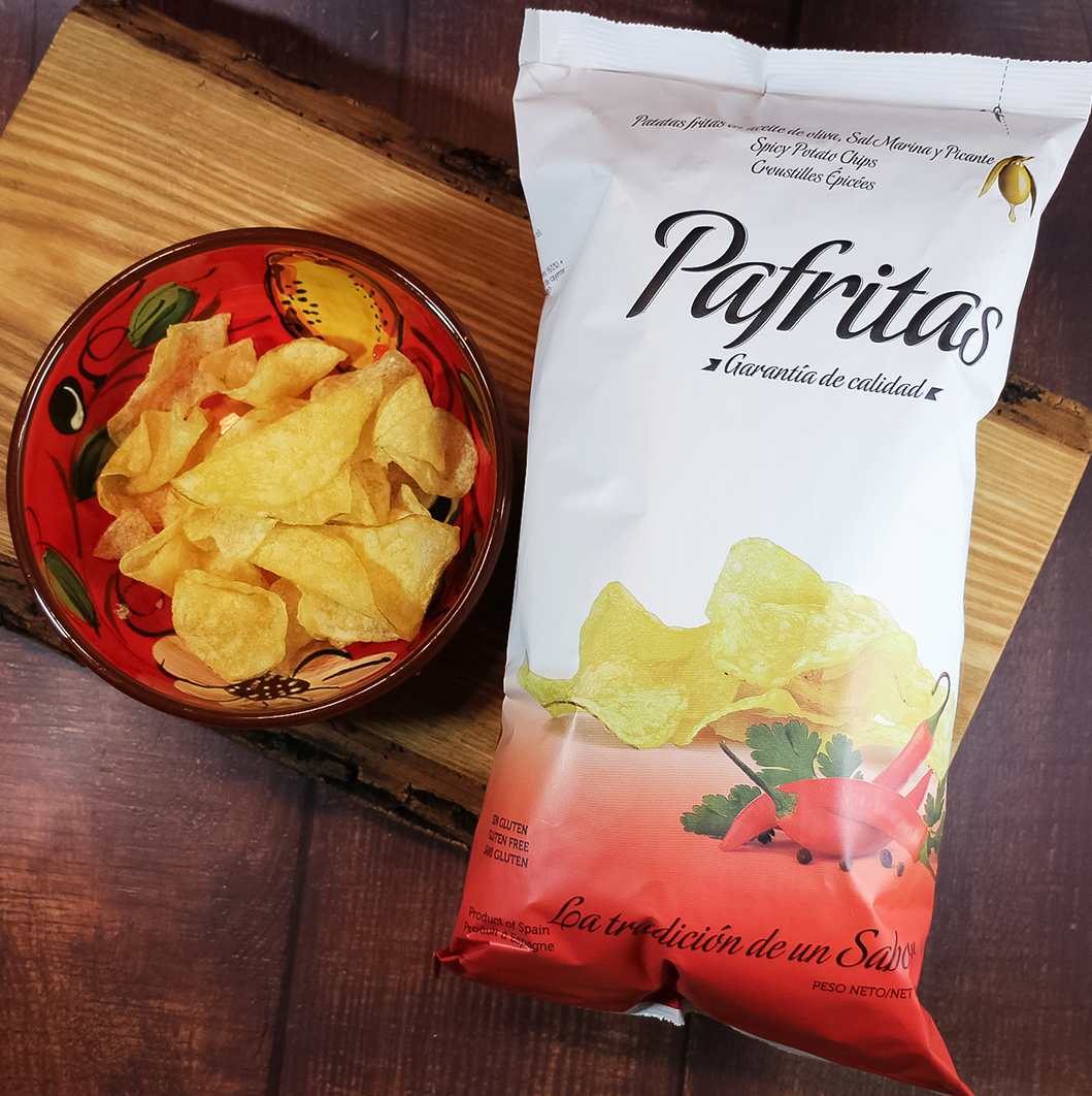 Pafritas Spicy + Marine Sea Salt Potato Chips 140 g