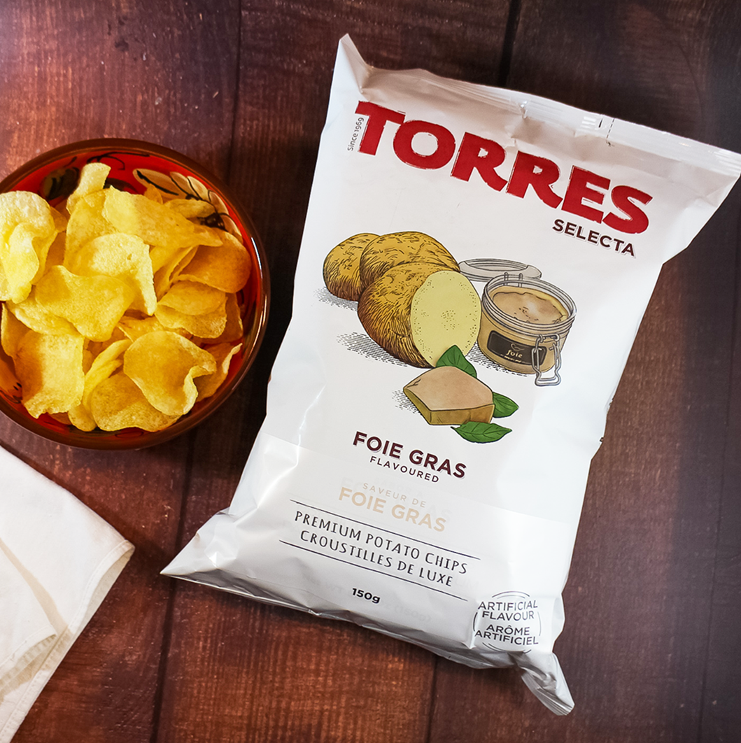 Torres Selecta Foie Gras Premium Potato Chips | Spanish Imports Gourmet Grocery Food Shop Online The Spanish Store | Torres Chips in Toronto, Ontario - Shop Online