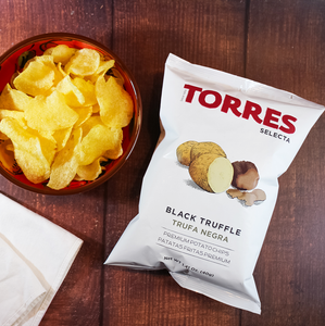 Torres Selecta Black Truffle Premium Potato Chips from Spain | Spanish Imports Gourmet Grocery Food Shop Online The Spanish Store | Torres Chips in Toronto Ontario
