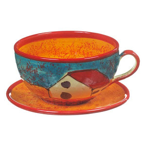Antonio Ortiz Cup and Saucer, Handmade Ceramics from Spain,  The Spanish Store, Shop Spanish products online, Toronto Ontario Hamilton Ontario