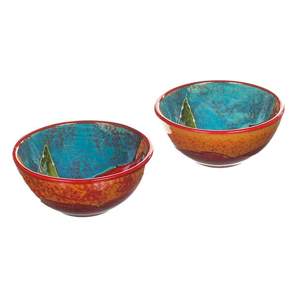 Antonio Ortiz 2-Piece Gazpacho Bowl Set, Handmade Ceramics from Spain available in Canada, The Spanish Store, Shop Spanish products online, Toronto Ontario Hamilton Ontario