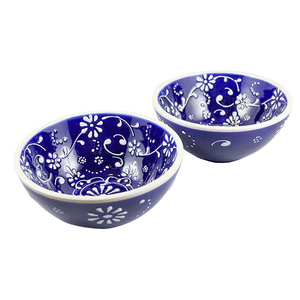 Antonio Ortiz 2-Piece Gazpacho Bowl Set, Handmade Ceramics from Spain available in Canada, The Spanish Store, Shop Spanish products online, Toronto Ontario Hamilton Ontario Azul Blue