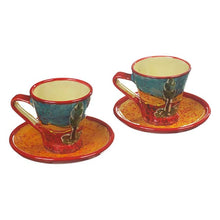 Antonio Ortiz 2-Piece Espresso Set, Handmade Spanish Ceramics, Cafe Lomo, the Spanish Store, Shop Spanish products online, Toronto Ontario Hamilton Ontario