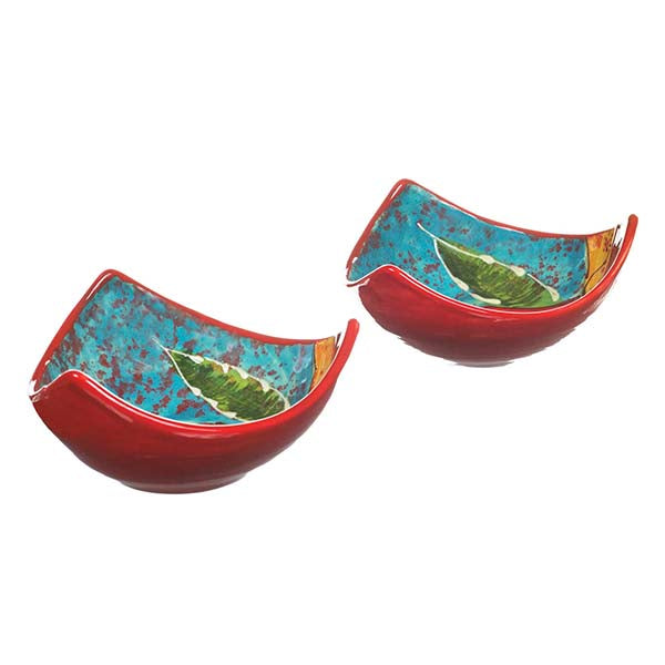 Antonio Ortiz 2-Piece Three-Peak Bowl Set