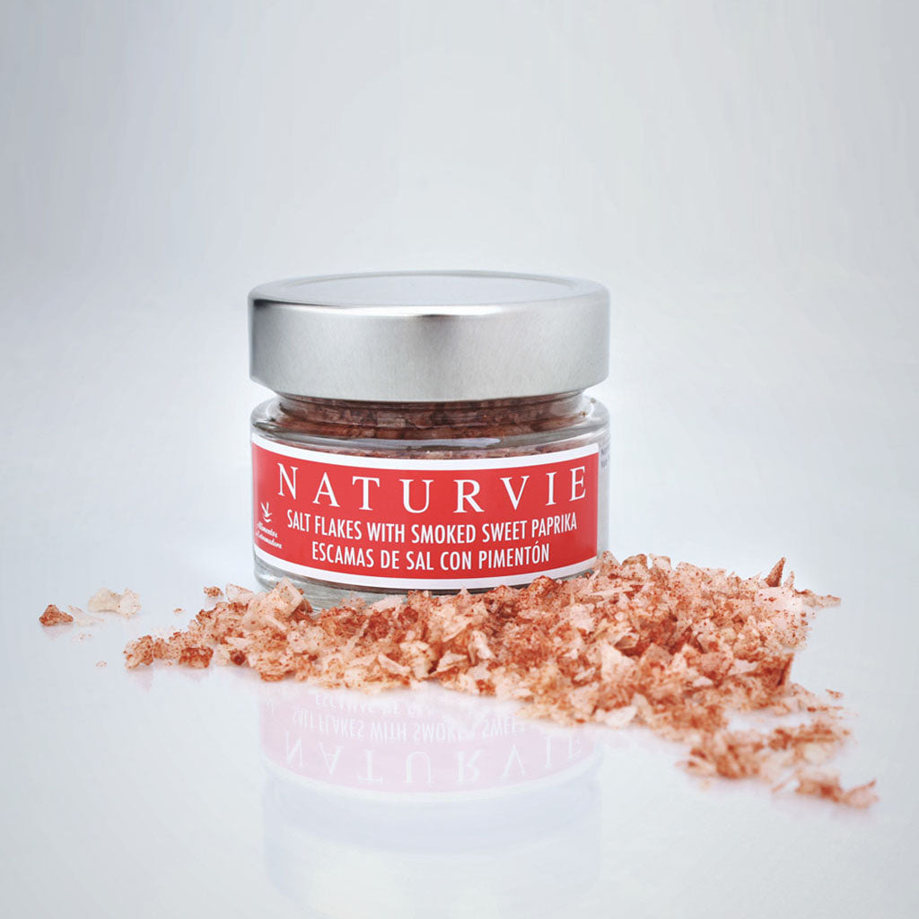 Naturvie Salt Flakes with Smoked Sweet Paprika | Buy Spanish Food Online spanishstore