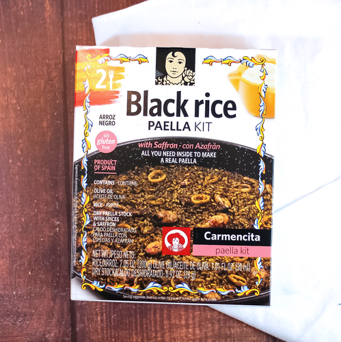 Carmencita Black Rice Paella Carton | Make your own authentic Spanish paella at home easily, Spice mix from Carmencita | The Spanish Store Canada