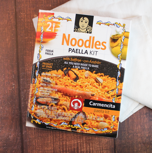 Carmencita Fideua Paella Carton, Make Fideua Noodle Paella at Home easily | Shop online Spanish Imports, The Spanish Store Toronto, Ontario