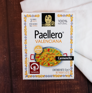 Carmencita Valencian Paellero Mix | Sachets and spice mixes to make Spanish Valencian Paella easily at home | The Spanish Store Imports delivered