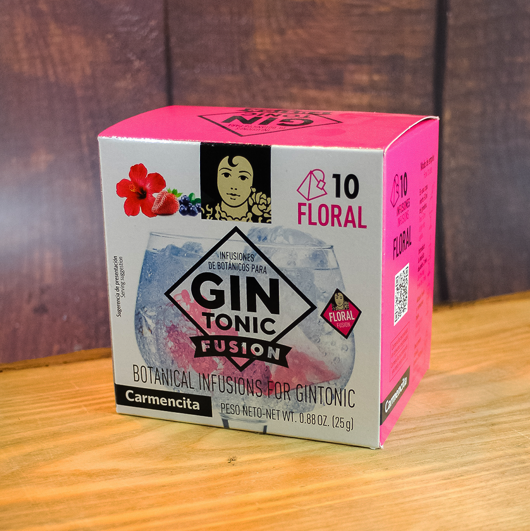 Carmencita Gintonic Fusion Floral Mix Gin & Tonic drink from Spain with flowers | Shop online Spanish drinks and food The Spanish Store, Spanish imports in Canada