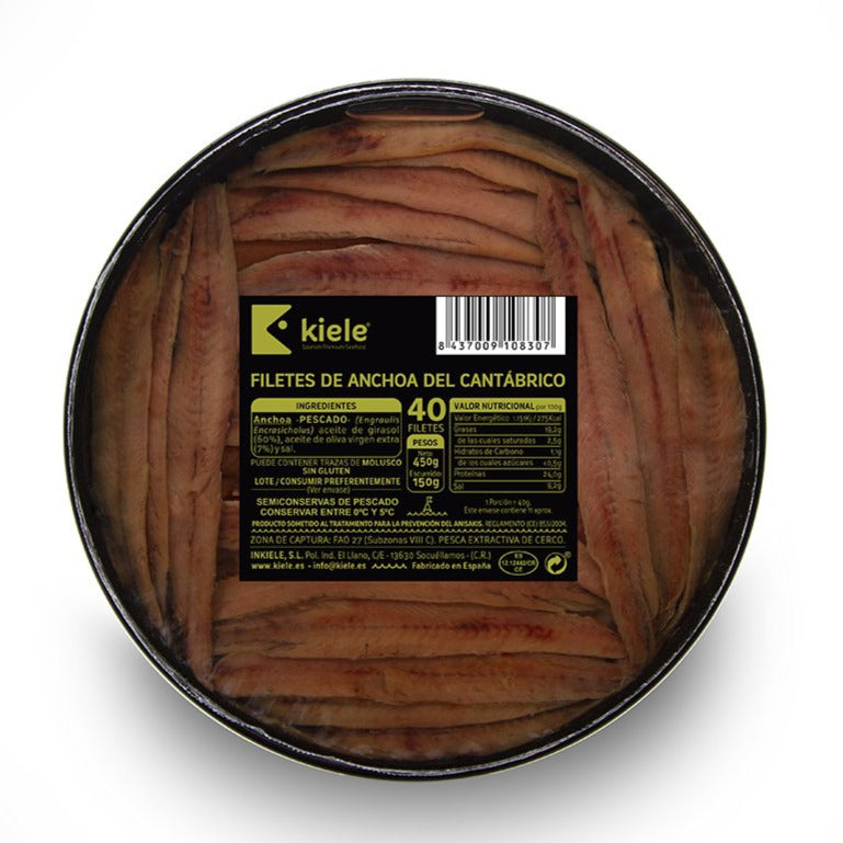 Kiele Cantabrian Anchovy in Olive Oil - 50 Fillets 150 ml