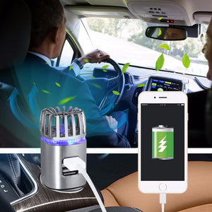 Premium 2 in 1 Car Air Purifier with Dual USB Charger