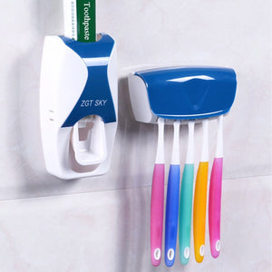 Automatic Toothpaste Dispenser &Tooth Brush Holder Set