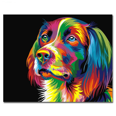 Dog abstract painting diy digital paintng by numbers canvasandco dog abstract painting diy digital paintng by numbers solutioingenieria Gallery