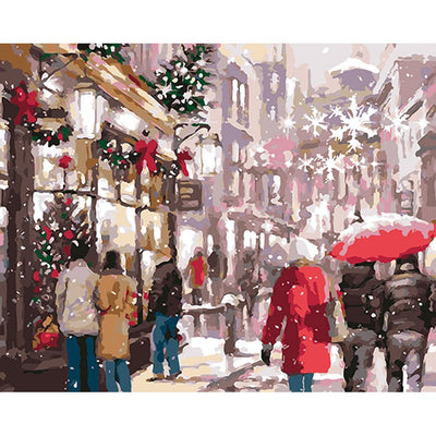 Christmas Snow.Visit A City During Christmas