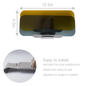 Day and Night Anti-Glare Car Windshield Visor - Greyson&Co