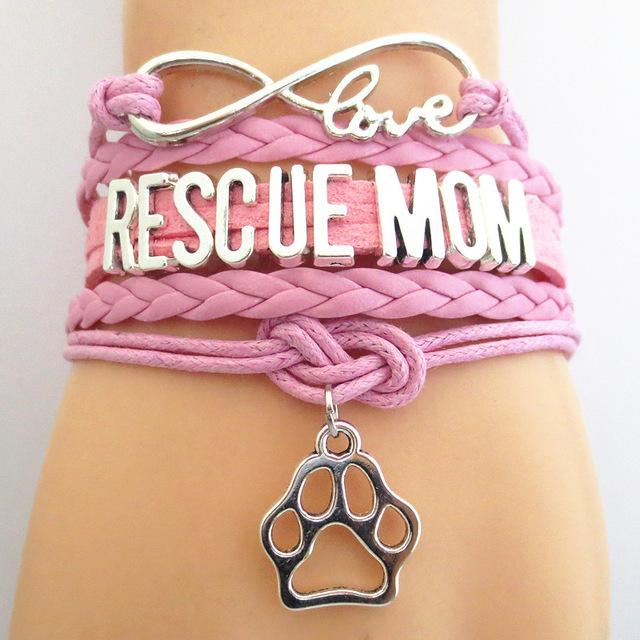 Infinity Love Rescue Mom Bracelet - Greyson&Co