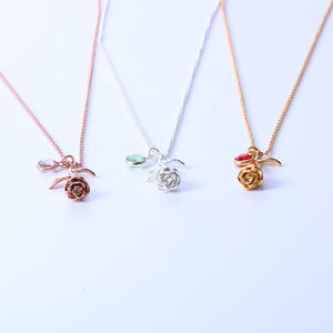 Rose Birthstone Necklace - Greyson&Co