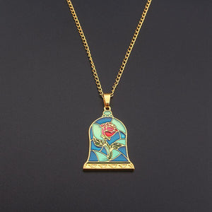 Mosaic Enchanted Rose Necklace - Greyson&Co